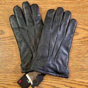 NWT Merona Women's Genuine Leather Gloves in Black